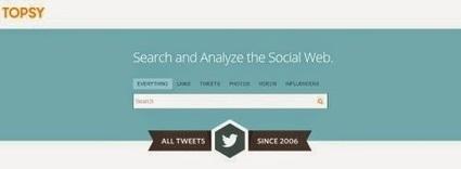 Topsy: potente motore di ricerca per twitter   my blog   Scoop.it