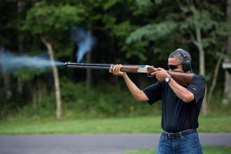 W.H. Releases Photo of Obama Shooting a Gun--Better Photoshop Than The Previous Release | Littlebytesnews Current Events | Scoop.it
