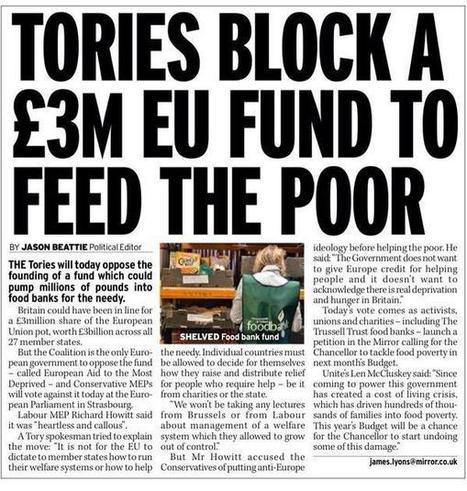 Tories_Block_Fund_to_help_poor.jpg (599x630 pixels) | David Cameron's Corrupt & Paedophile Friends | Scoop.it