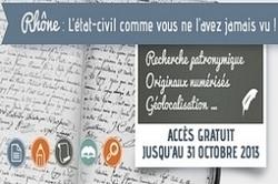 L'état civil du Rhône indexé arrive sur Genealogie.com - La Revue française de Généalogie | Histoire Familiale | Scoop.it