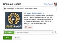How To Share A Podcast On Google+ : Music Radio Creative Blog | Podcasts | Scoop.it