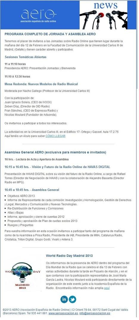 Jornadas Radio Online y Asamblea AERO #WRD13 Madrid, Dia Mundial de la Radio | Radio 2.0 (Esp) | Scoop.it