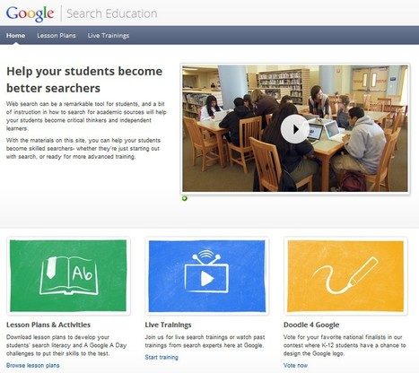Google Launches New Search Education Site with Lesson Plans | Education 2.0 and Beyond | Scoop.it