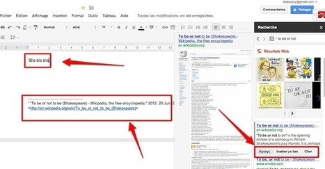 Google Documents: comment utiliser le volet de recherche? | Je, tu, il... nous ! | Scoop.it