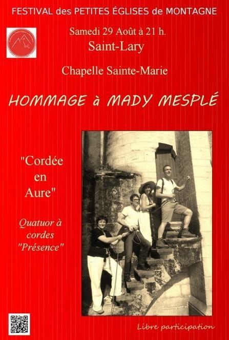 Le Festival des petites églises de montagne rend hommage à Mady Mesplé le 29 août à Saint-Lary | Vallée d'Aure - Pyrénées | Scoop.it