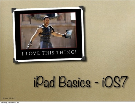I pad basics ios7 | Apps for Education | Scoop.it