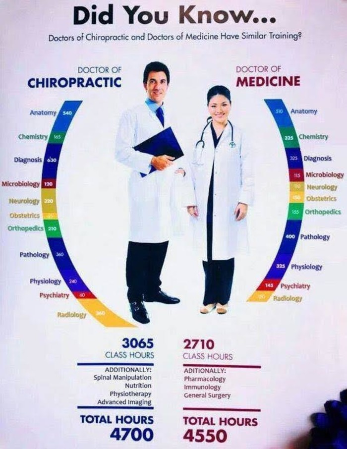 Chiropractic Doctors Typically Have More Education Than MDs (and more surprises!) | Chiropractic + Wellness | Scoop.it