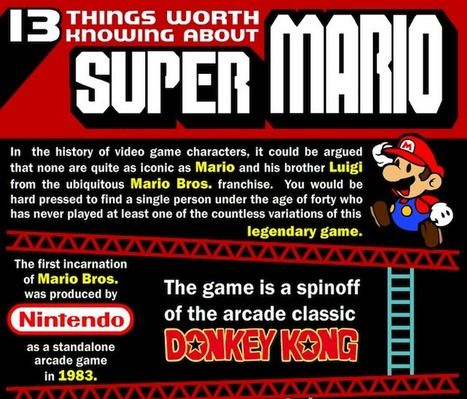 13 Things You Need To Know About Super Mario… ★ Bit Rebels | infographies | Scoop.it