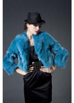 Women's Furs :: Fur Jackets :: Fox :: Dyed Fox Fur Jacket with Shawl Collar - | furs | Scoop.it