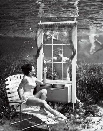 Pionero de la fotografía subacuática // Pioneer of underwater photography (by Bruce Mozertom, 1938) | serkan | Scoop.it