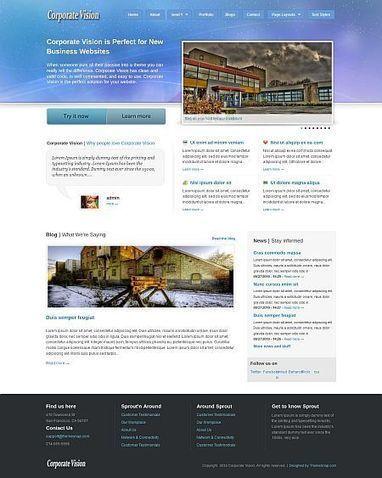 Corporate Vision Business / Application Drupal Theme   Premium iThemes   Themes & Templates   Scoop.it