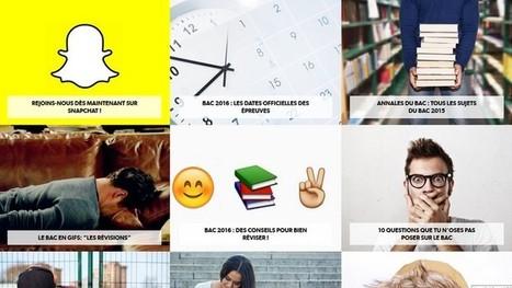 Réviser le Bac avec Snapchat et des GIF ? L'Éducation nationale tente le coup - Geek Junior - | POURQUOI PAS... EN FRANÇAIS ? | Scoop.it
