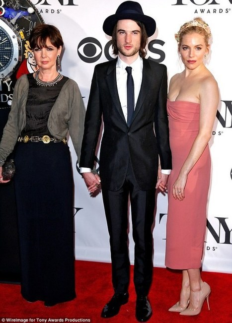 Tom Sturridge with his mother Phoebe Nicholls and Sienna Miller at the Tony Awards | Additionals | Scoop.it