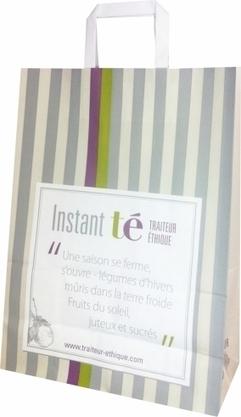 Le sac en papier d'Instant té, Traiteur Éthique - Le Sac Publicitaire   Sac papier publicitaire   Scoop.it