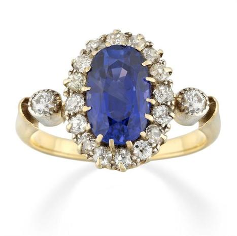 A VICTORIAN SAPPHIRE AND DIAMOND CLUSTER RING - Bentley & Skinner | Bentley And Skinner | Scoop.it