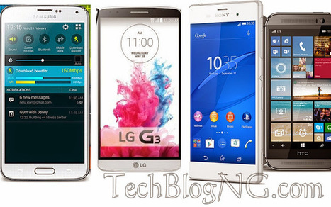 HTC One M8 vs LG G3 vs Xperia Z3 - Specifications and Comparison | technology-blogging | Scoop.it