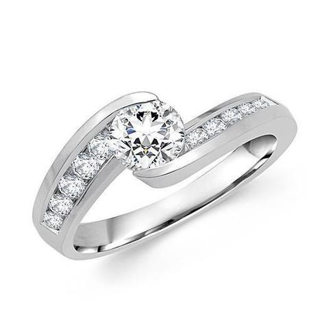 Round Diamond Channel Engagement Ring | Diamond Engagement Ring | Scoop.it