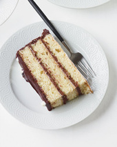 Giant Black-and-White Layer Cake Recipe - Grace Parisi | Food & Wine | Just Chocolate!!! | Scoop.it