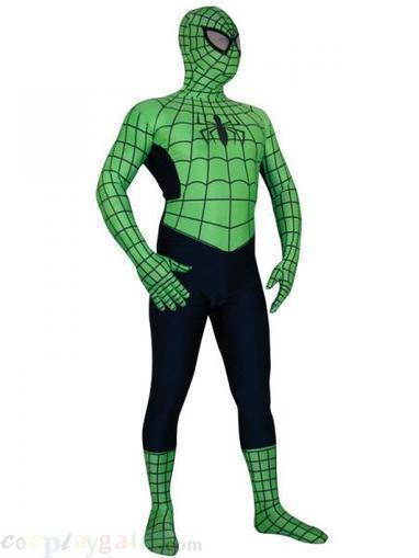 Green Lycra Spandex Spiderman Zentai Costume With Black Stripe free shipping - wholesale Lycra Spandex Zentai Suits - wholesale Catsuits & Zentai - CosplayGate.Com | spiderman costume,spiderman costumes | Scoop.it