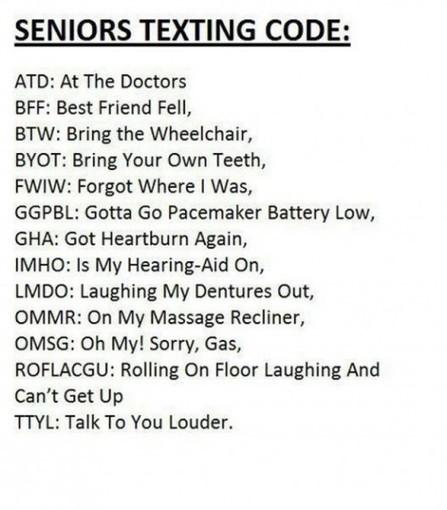 Seniors texting code…     LOLHeaven.com   Sports   Scoop.it