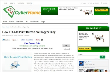 How To Add Print Button On Blogger Blog | Cyber Kendra - Hacking and Security News | Scoop.it