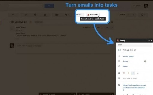 Remind Me, de Astrid - Gestión de tareas integrada en Gmail | Educación a Distancia (EaD)