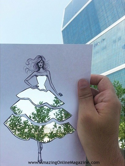 Illustrator's Ingenious Cut-Outs Turn Any Landscape into Clever Clothing Designs   Amazing Online Magazine   Scoop.it