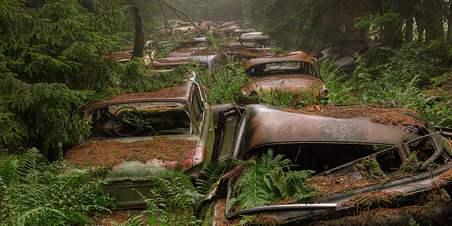 This Traffic Jam Was Stuck In Belgian Forest For 70 Years | Everything Photographic | Scoop.it