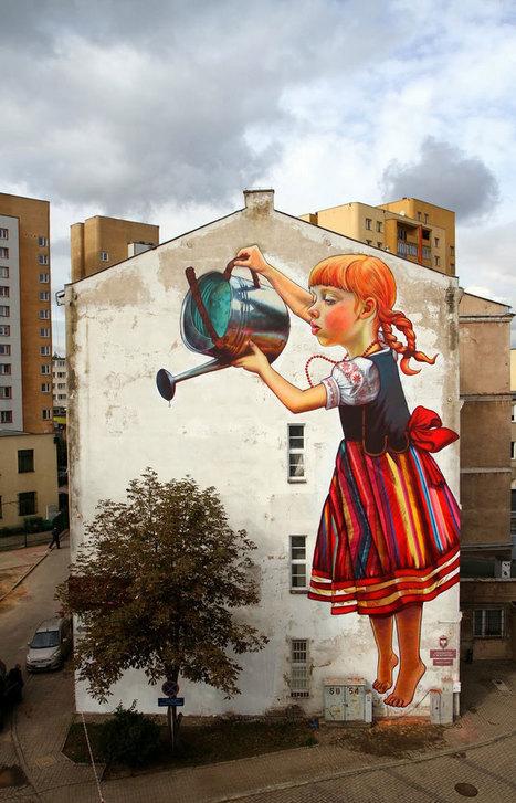 Building-Sized Street Art Portraits by Natalia Rak | Design | Scoop.it
