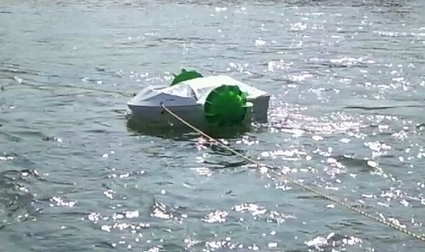 Demonstration Test of Tidal Power Generation Using Biomimetics Conducted by Kumamoto University | Biomimicry | Scoop.it