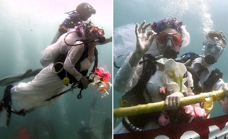 Scuba-loving couple marry 36ft underwater in the Maldives | All about water, the oceans, environmental issues | Scoop.it