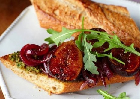 Grilled Fig Sandwiches With Roasted Pistachio Pesto Recipe | Food | Scoop.it