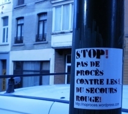 #noproces #stop4 2000 autocollants dans la nature :) | Occupy Belgium | Scoop.it
