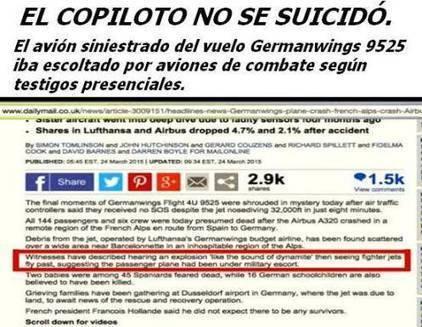 Prueba Laser estadounidense destruye al Jet #Germanwings matando a 150 inocentes | La R-Evolución de ARMAK | Scoop.it