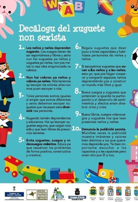 Decálogo del juguete no sexista | Recursos educativos - Otras materias | Scoop.it