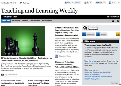 Sept 17 - Teaching and Learning Weekly | Studying Teaching and Learning | Scoop.it