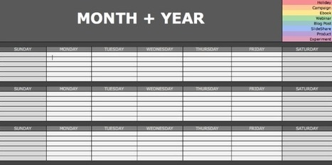 The Social Media Content Calendar Every Marketer Needs [Free Template] | Marketing in the Digital World | Scoop.it