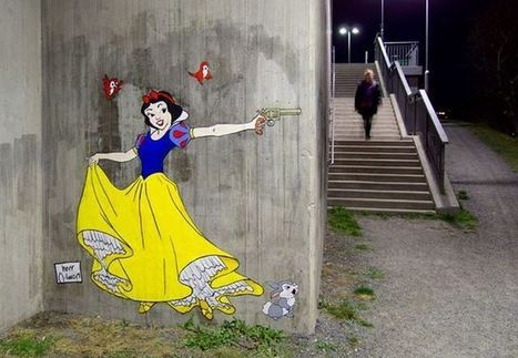 Disney Princesses Wielding Knives and Guns in Stockholm Street Art | Art and Co | Scoop.it