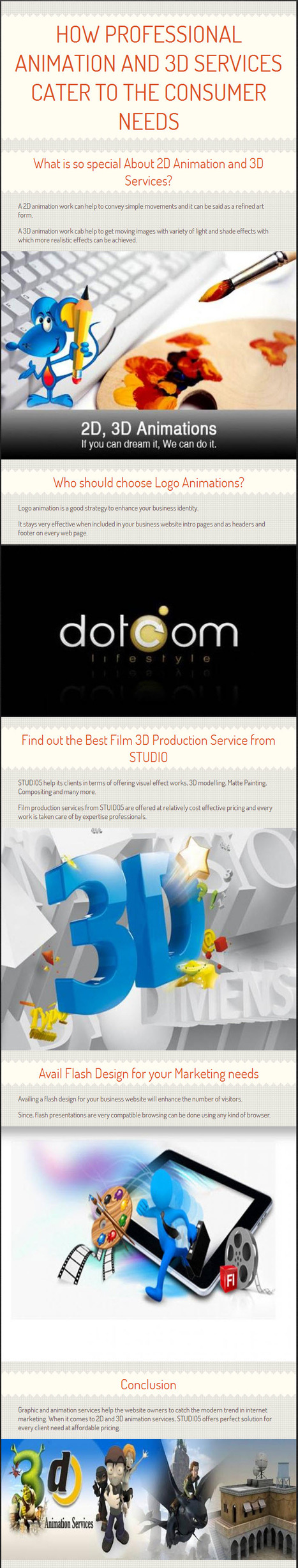 How Professional Animation and 3D Services cater to the Consumer Needs? | 3D Animation Services | Scoop.it