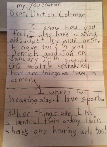 Deaf NFL Player Responds To Hearing-Impaired Little Girl With Encouraging Letter | Sizzlin' News | Scoop.it