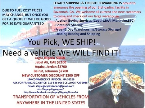Legacy Shipping and Freight Forwarding - with over 20 years of experience we ship anywhere in the world... | Mercor | Scoop.it