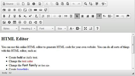 Free Online HTML Editor | webdesign | Scoop.it