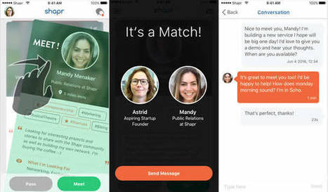 Shapr, le networking qui marche - French Morning   Job search, coaching & Management   Scoop.it