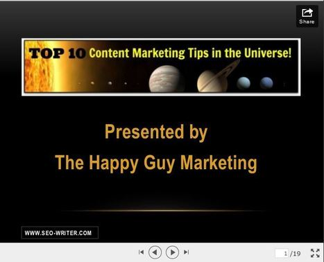Top 10 Content Marketing Tips in the Universe [slideshow] | Social Media | Scoop.it