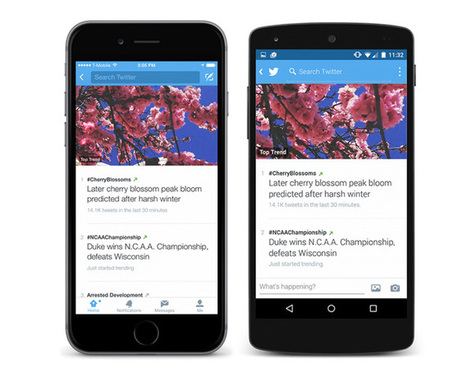 Tendances, Retweets, slow-motion, voici les dernières nouveautés Twitter ! | Actualités des réseaux sociaux | Scoop.it