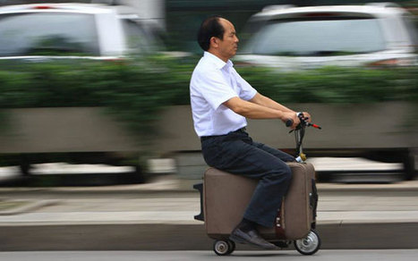 Chinese man invents suitcase scooter to solve travelling woes - Telegraph | Matmi Staff finds... | Scoop.it