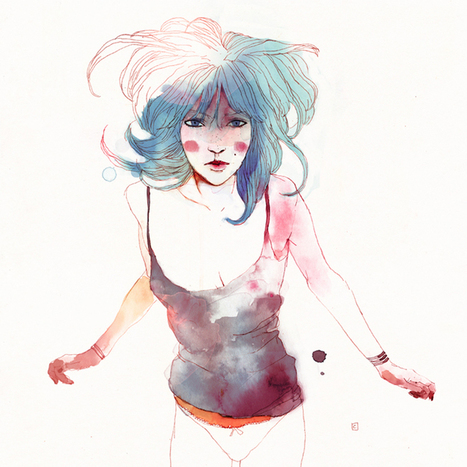 Beauty of female form captured in illustrations by Conrad Roset | Interesting fun stuffs | Scoop.it