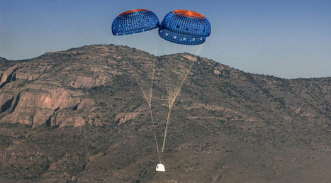 Blue Origin preparing to land New Shepard with a bum parachute next time   SpaceNews.com   The NewSpace Daily   Scoop.it