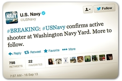 Navy reports news of shooter in real-time on Twitter | World News | Scoop.it