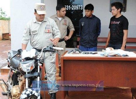 Adolescentes son detenidos, tras perpetrar una treintena de asaltos en Hernandarias y CDE | Distintos tipos de robo !!! | Scoop.it